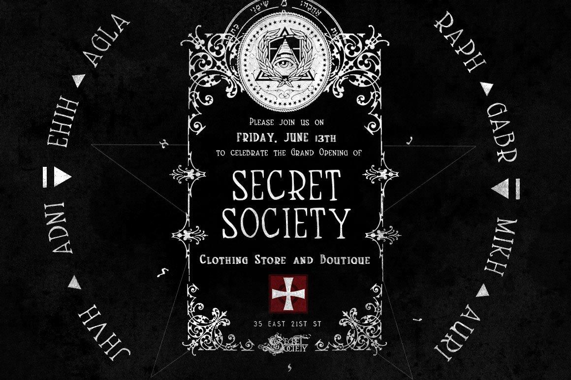 Handmade Font SecretSociety