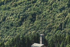 Tiny Church in Massive Forest, Italy