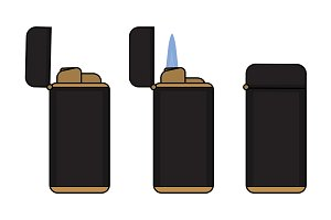 Cigar lighter. Vector