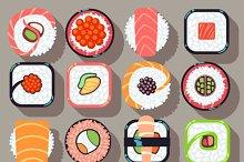 Sushi japanese cuisine food