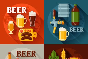 Backgrounds with beer icons.
