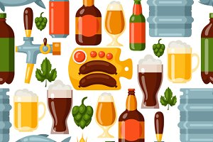 Patterns with beer icons.