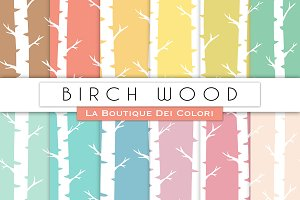 Birch Wood Digital papers