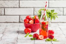 drink with Strawberry