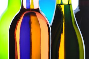 Wine Bottles Abstract