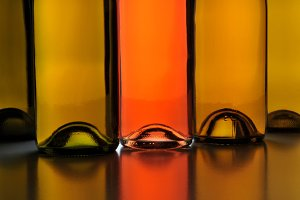 Wine Bottle Abstract