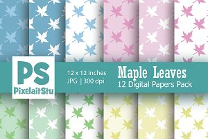 Maple Leaves Digital Paper