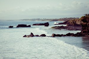 Ocean waves.