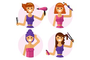 Make Hair Styling Vector