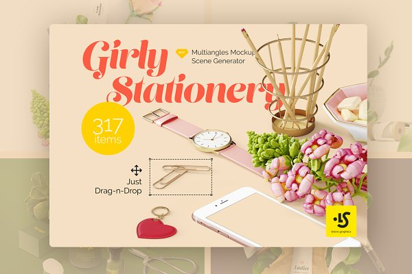 Girly Stationery Mockup Creator