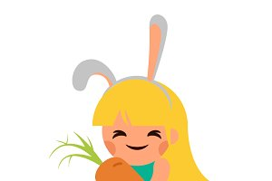 Girl Hare Bunny