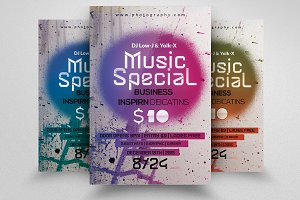 Music Party Night Flyer Template