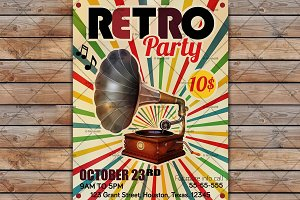 Vector Retro Party Poster