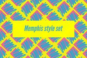 №160 Memphis style set
