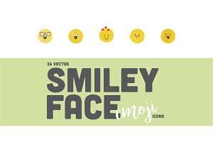 36 Smiley Face Emoji Icons