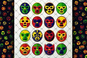 Wrestling Masks Set