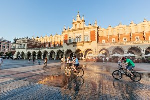 Market square of Cracow, Poland.