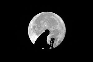 Photographer and Supermoon