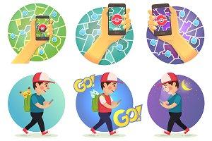 Set illustration pokemon theme