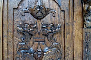 carved wooden forniture