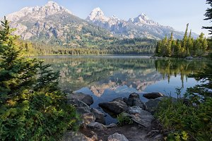 Serene Rocky Mountain Lake