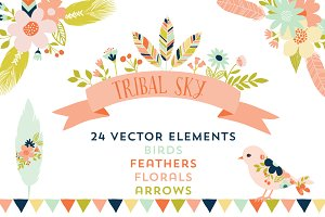 Tribal Sky Vector Elements