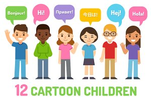 Cartoon children set 2