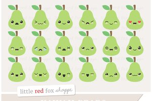 Kawaii Pear Clipart