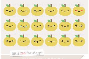 Kawaii Apple Clipart