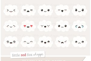 Kawaii Cloud Clipart
