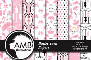 Ballet Digital Papers, Tutus, 1315