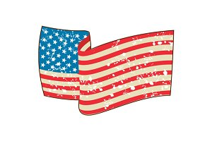 USA Flag Stars and Stripes Grunge
