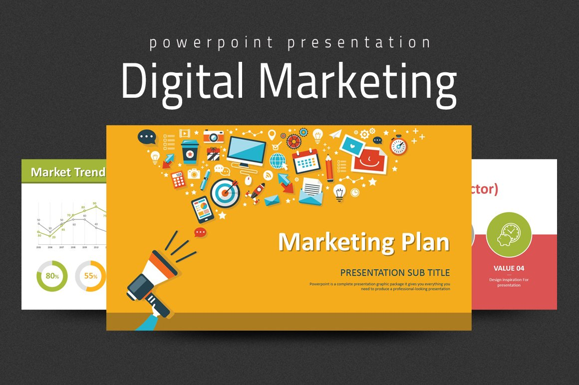 Digital marketing strategy ppt presentation templates creative digital marketing strategy ppt presentation templates creative market wajeb Images