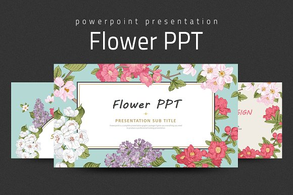 flower ppt presentation templates creative market