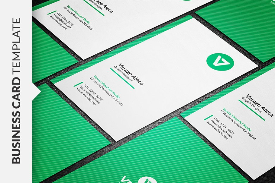 Clean Vertical Business Card ~ Business Card Templates