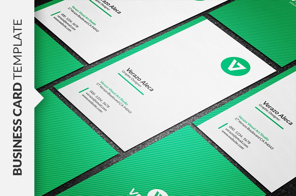 Clean Vertical Business Card ~ Business Card Templates ~ Creative Market