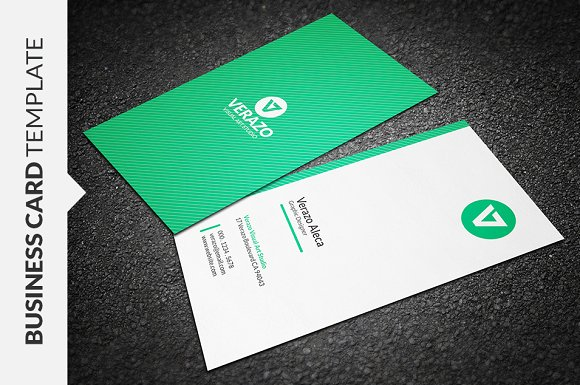 Clean vertical business card business card templates creative market wajeb Images