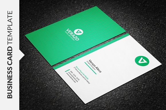 Clean Vertical Business Card Templates Creative Market