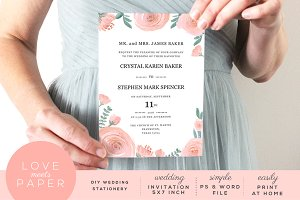 Wedding Invitation Template I1025
