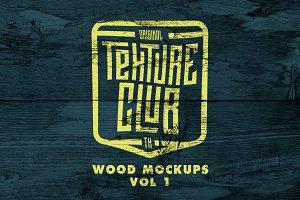 Wood Mockups + 5 FREE WOOD VECTORS
