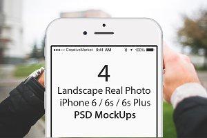 4 Landscape iPhone 6s Plus Mockups