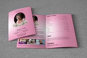 Funeral Program Template-T574