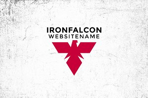 Iron Falcon Logo Template