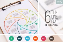Linear elements for infographic v.15