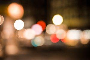 City Lights (Warm Bokeh)