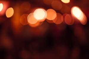City Lights (Red Bokeh)
