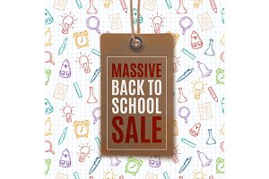 Back to School Sale price tag.