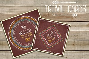 Tribal (boho) cards