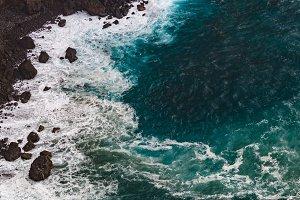 Danger rocky coast
