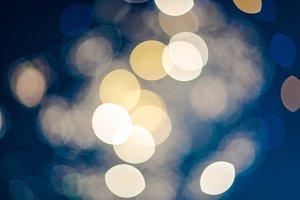 City Lights (Gold Bokeh)